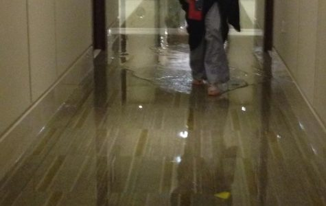 Flooding of the new residence halls causes students to question the early move-in