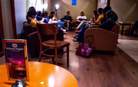 Campus Conversation session at Gloria Jeans in Student Center Photo by J. Zach Hollo