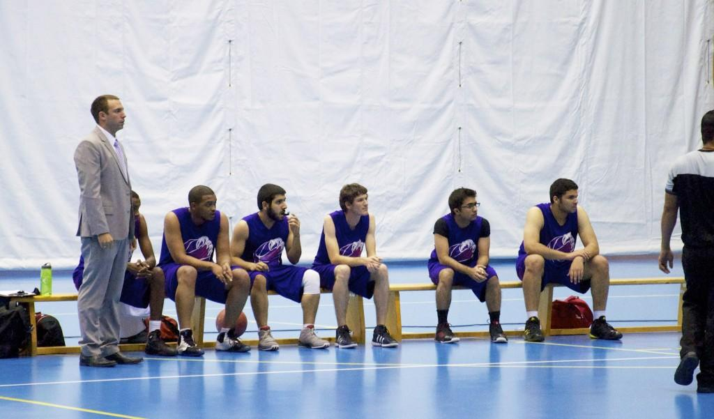 NU-Q/CMU-Q Basketball team along with the coach Evan WittPhoto by Valeria Marinova
