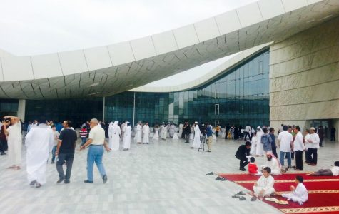 HH Sheikha Moza attends Friday prayer at QFIS mosque to mark its official opening