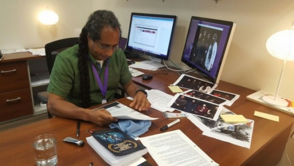 Marco Williams will be teaching directing and screenwriting at NU-Q this fall. [Photo by Ifath Sayed]