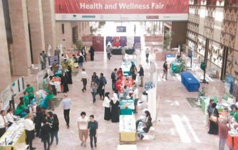EC-wide Health and Wellness Fair took place at CMU-Q this year [Photo Courtesy: Amie Rollins]