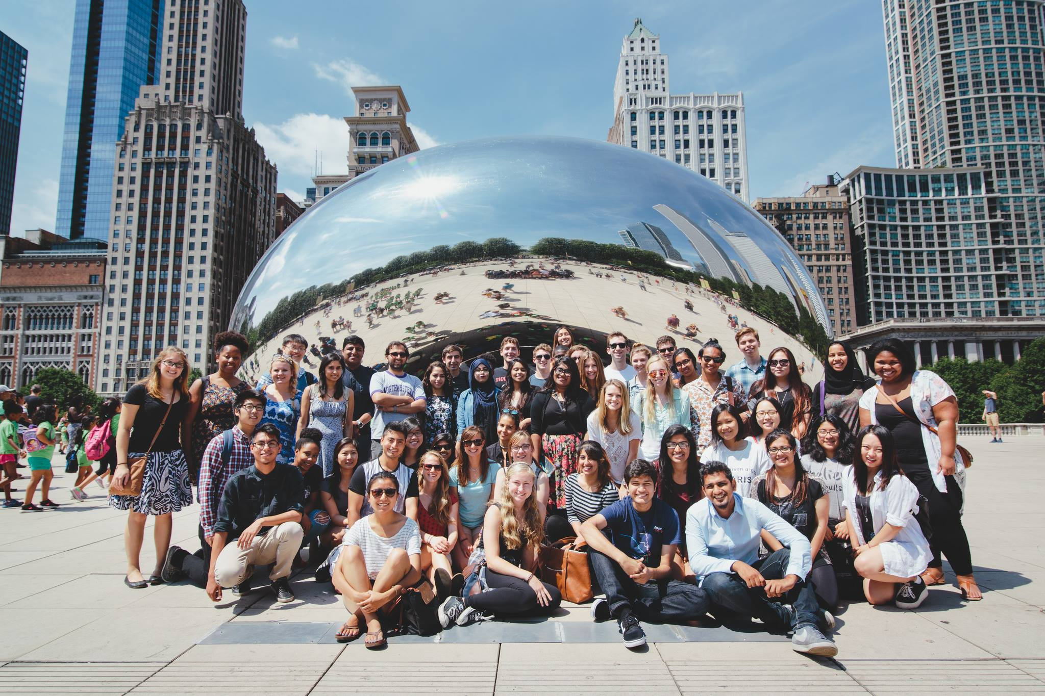 NU-Q students during Engage Chicago 2015 [Ethan Caldwell]