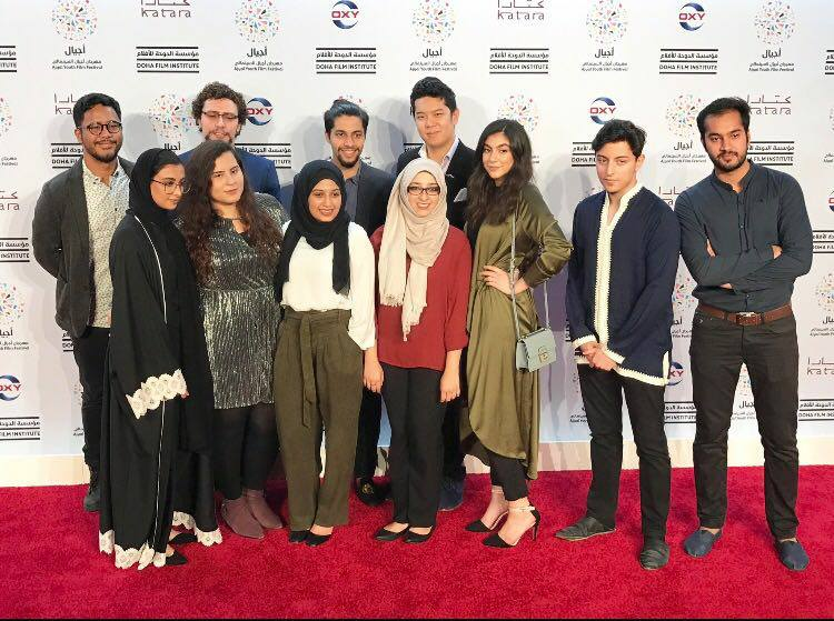 NU-Q+students+at+Ajyal%27s+red+carpet+%5BDFI%5D