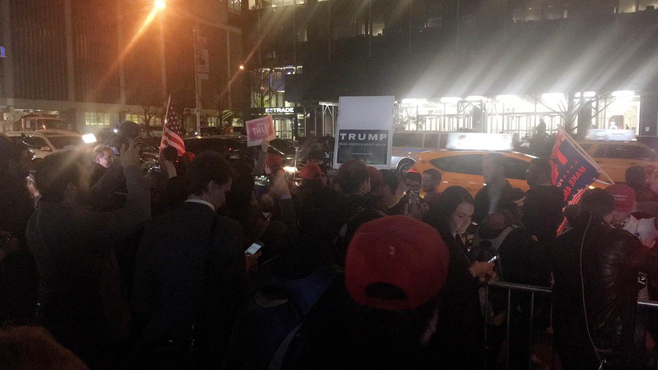 Trump supporters in New York [Sara Al-Ansari]