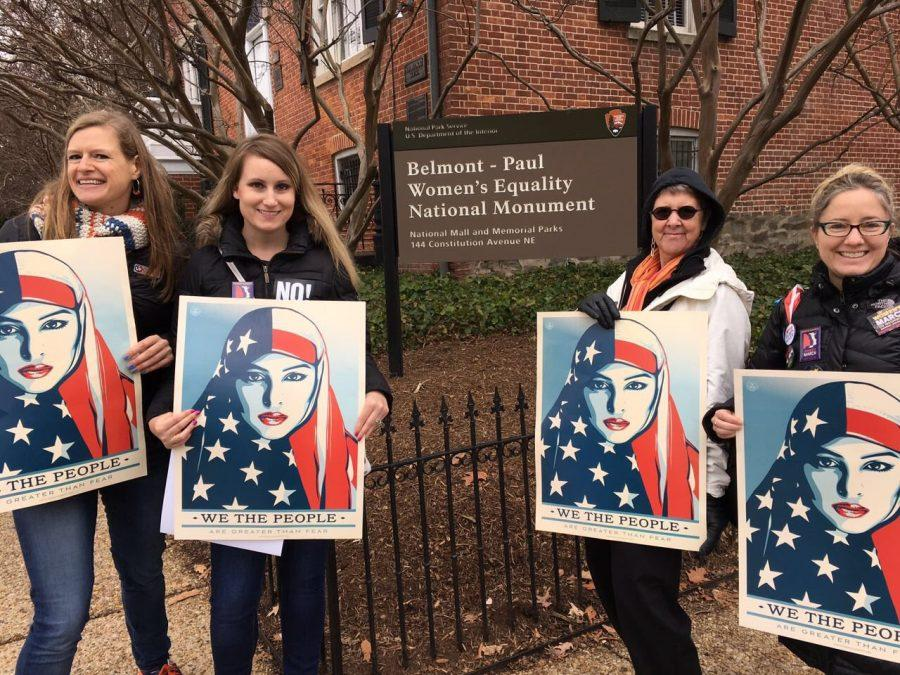 NU-Q faculty and staff participate in Women's March on Washington