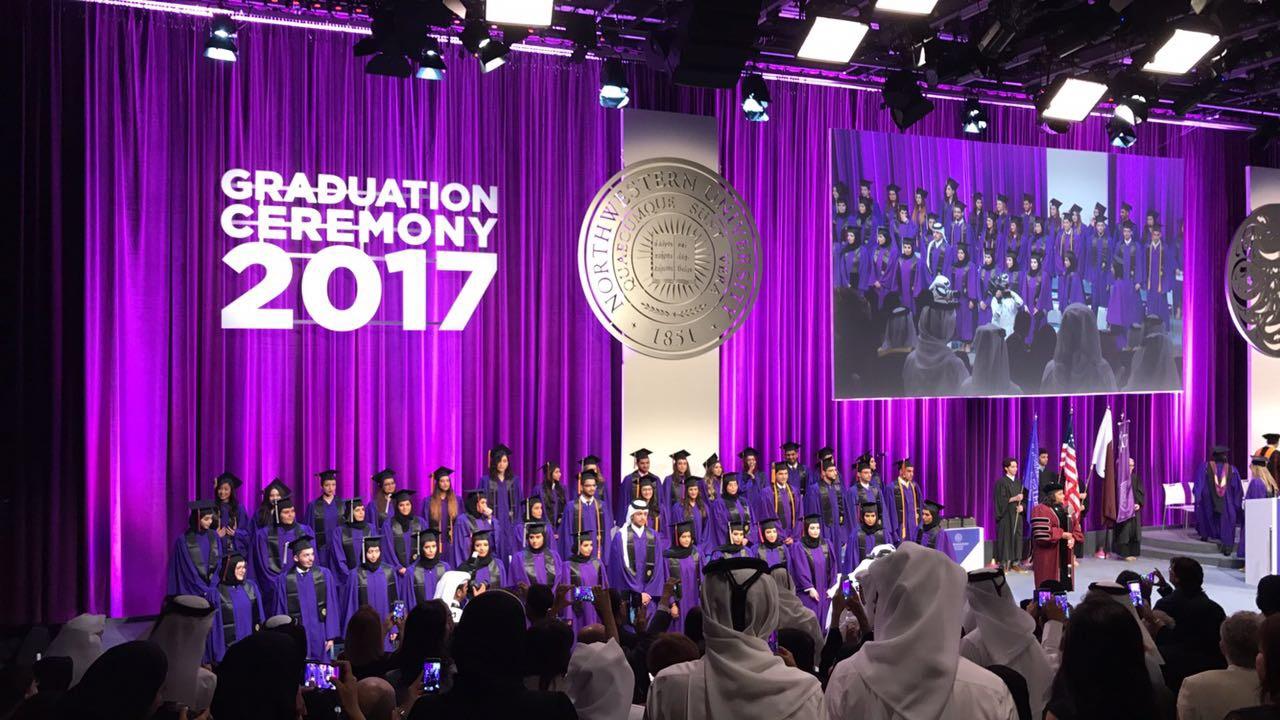 Spotlight: NU-Q celebrates first graduation in its new building