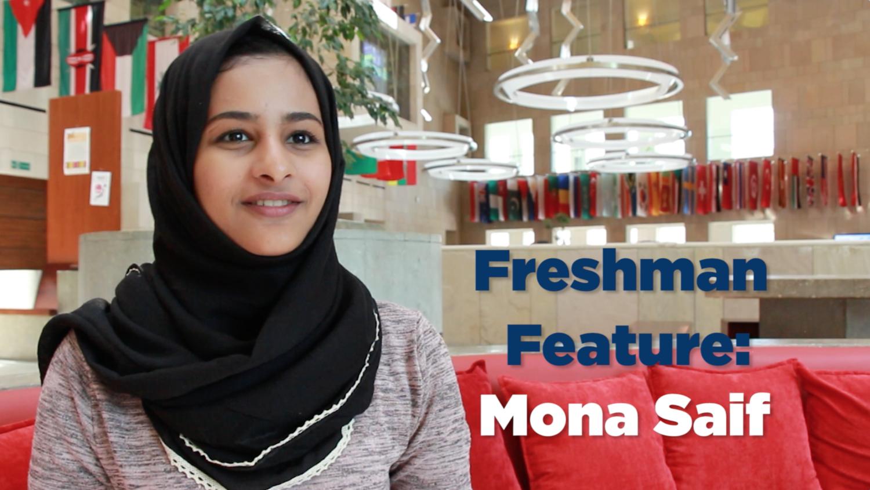 Freshman Feature: Mona Saif, SFS-Q