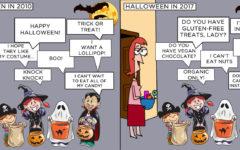 Halloween in 2010 vs. Halloween in 2017