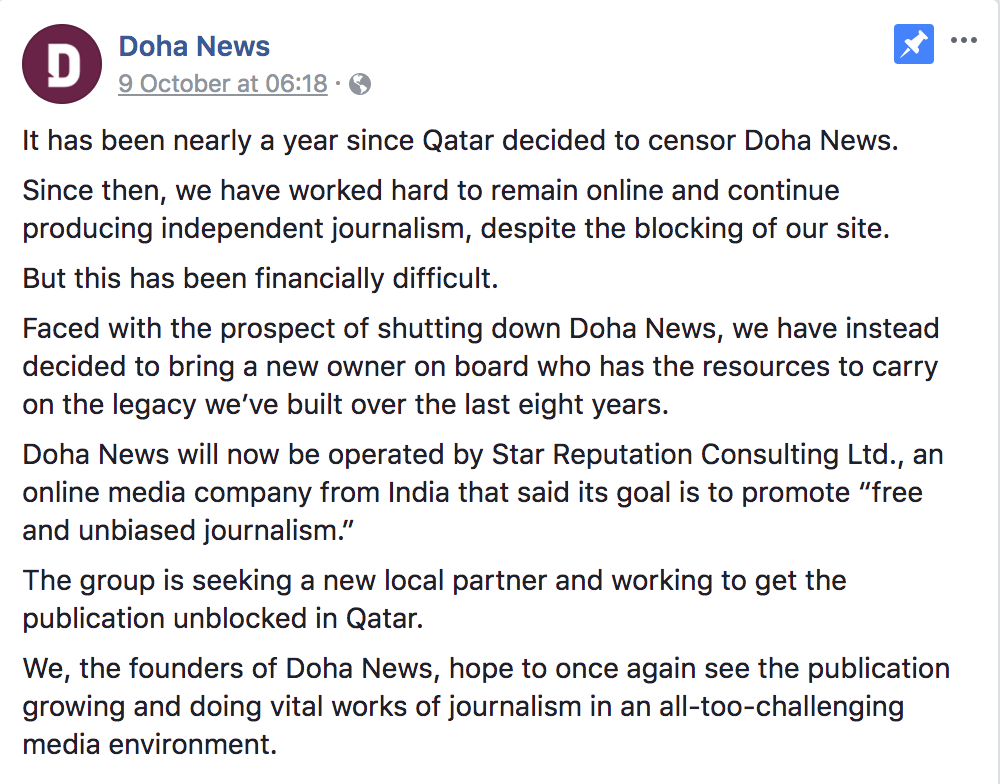 Doha News readers concerned over ownership change – The Daily Q