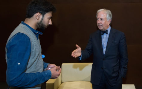 Co-founder of Bloomberg News visits NU-Q