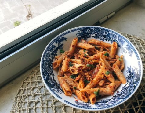 TDQ recipe: Creamy red sauce penne