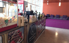 Café Crepe de Paris set up at Northwestern University in Qatar. Photo by Abdelmagid Huda.