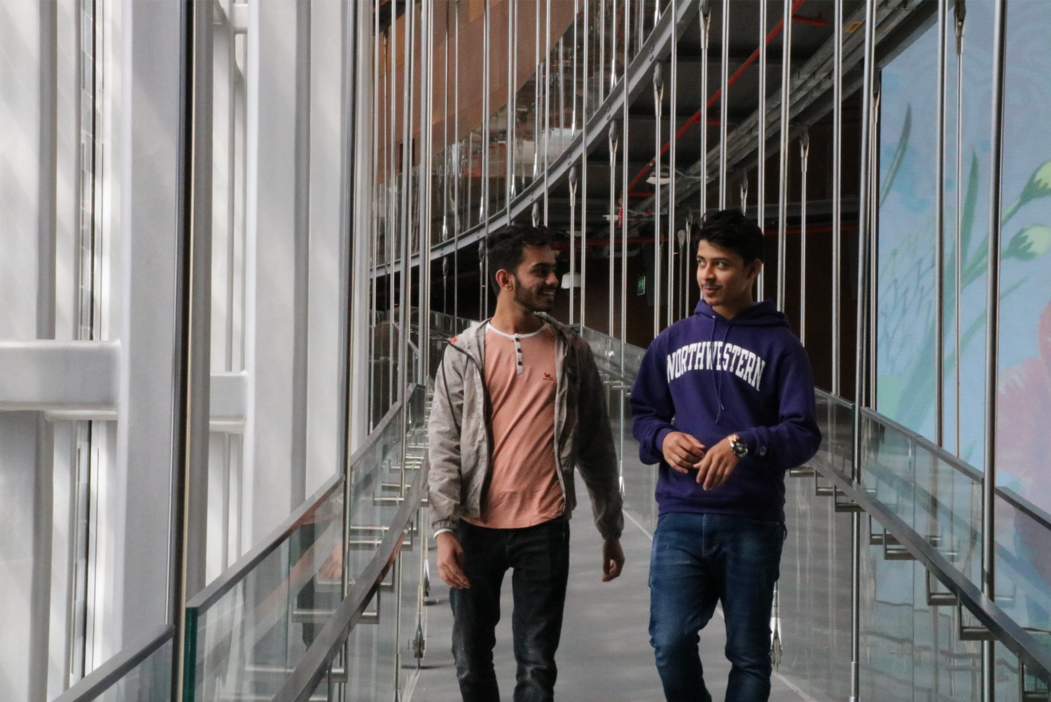 Bishal and Krishna Sharma, both freshmen at Northwestern University in Qatar, were affected by the scholarship withdrawal from the University of Texas at Tyler. Photo by Adrian Wan.