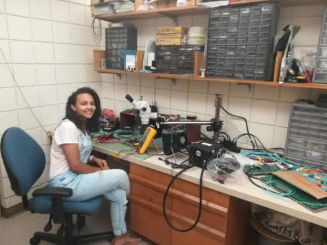 Alaa Abdalla at her physics internship. Photo provided by Abdalla.