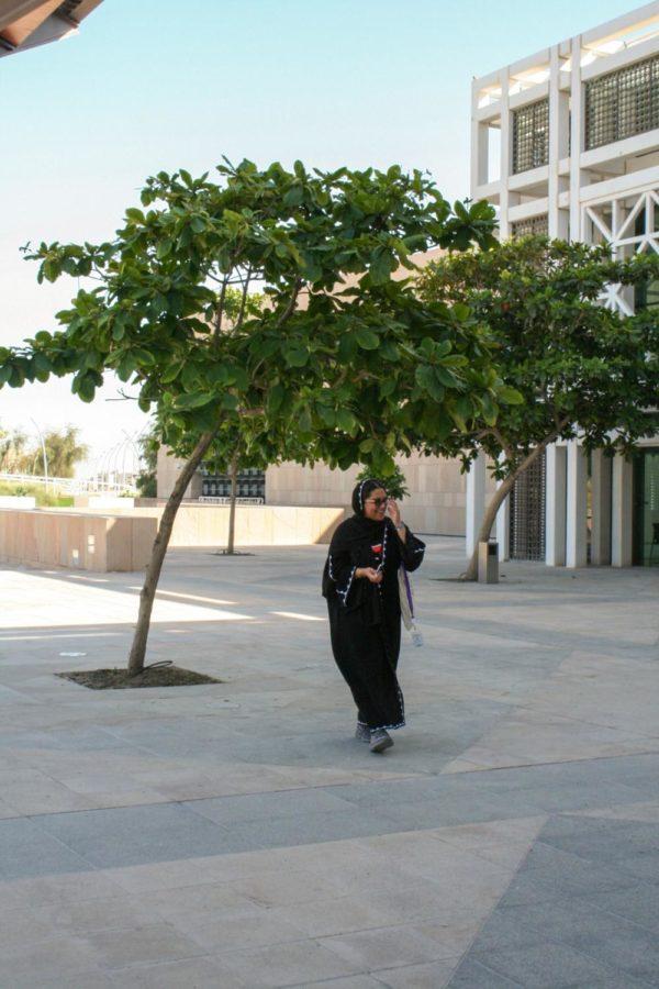 Noora+Al-Yafei+walking+around+Education+City.+Photo+by+Maryam+Gamar.