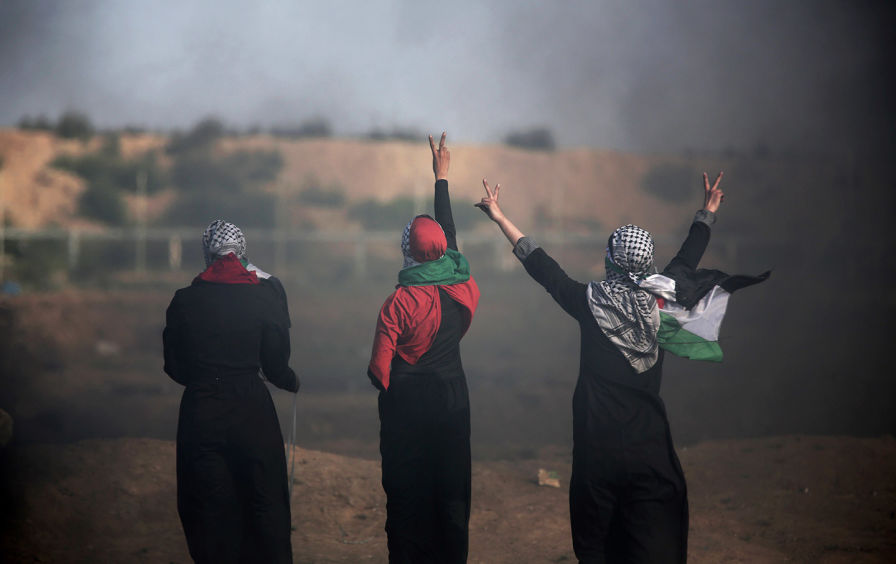 Photo source: https://www.thenation.com/article/palestinian-feminists-liberation-two-meanings/