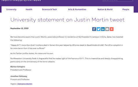 NU releases statement after anger over NU-Q professor's tweet about 9/11