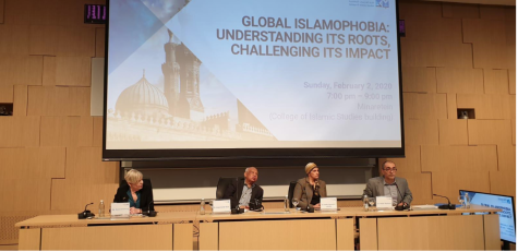 "Panel discussion on ""Islamophobia: Understanding Its Roots, Challenging its impact"" in HBKU's College of Islamic Studies on Sunday, Feb 2, 2020"
