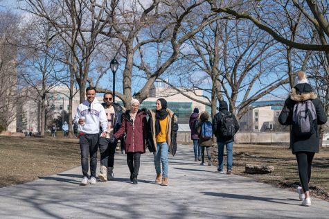 NU-Q students in Evanston during the 2019 Communication Exchange.